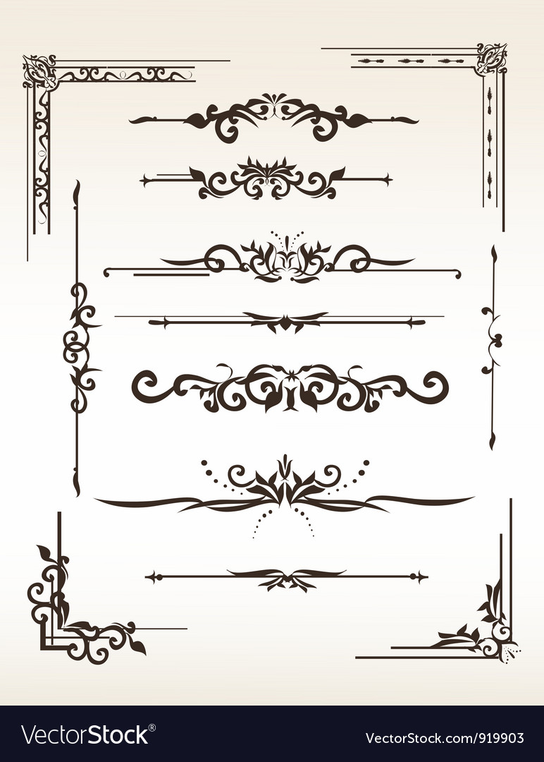 Vintage elements set vector