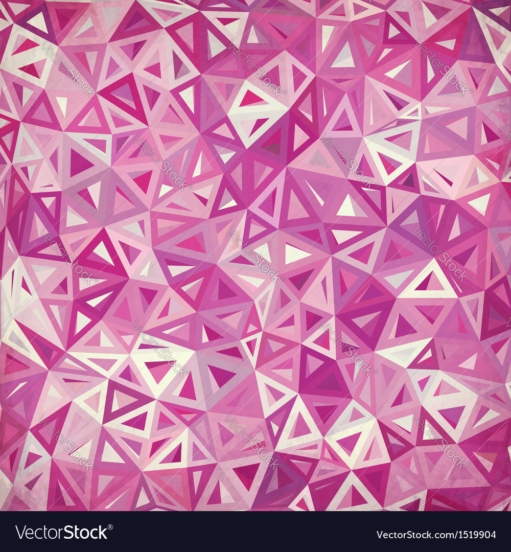 Abstract triangles vintage pink background vector | Price: 1 Credit (USD $1)