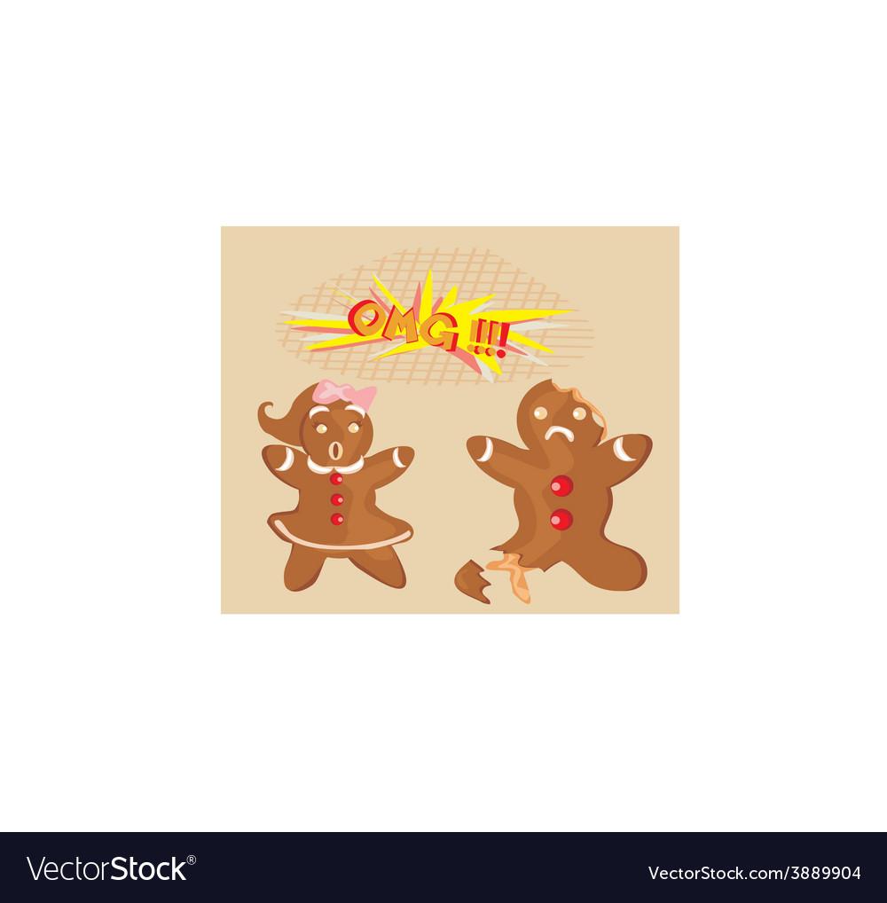 Bitten gingerbread man vector | Price: 1 Credit (USD $1)