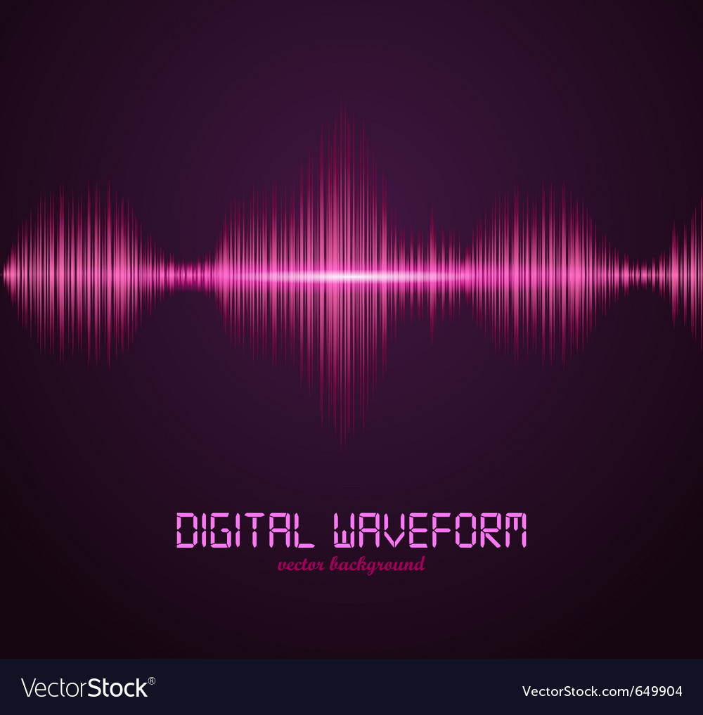 Digital waveform vector | Price: 1 Credit (USD $1)