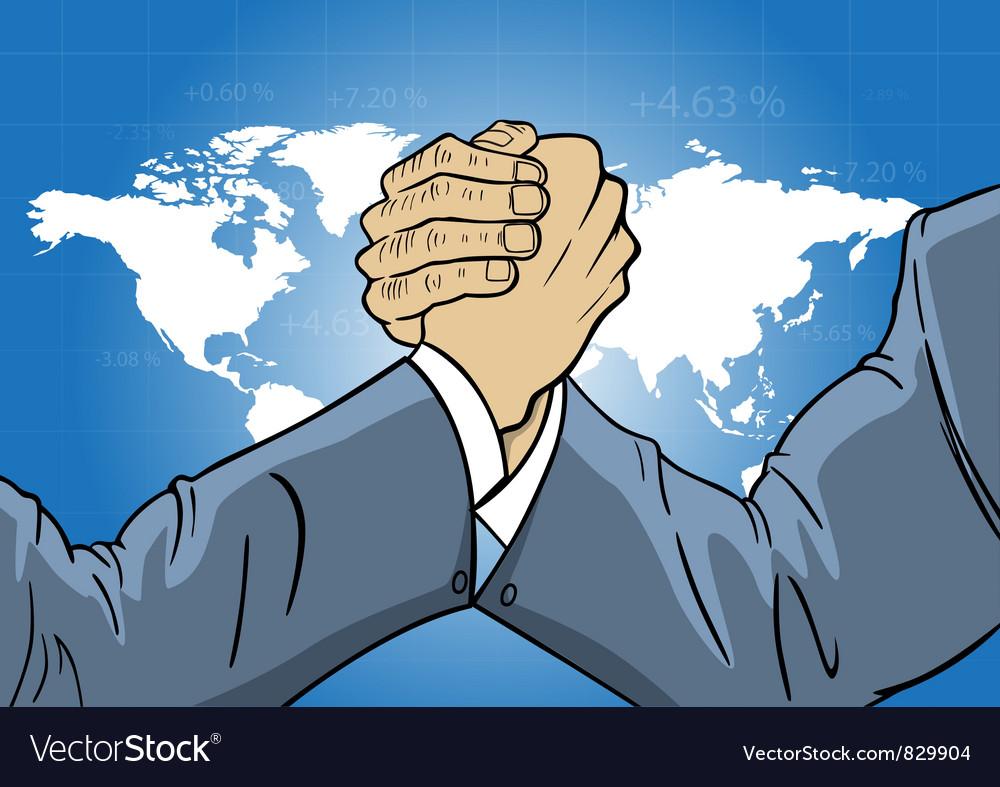 Economic world competition vector | Price: 1 Credit (USD $1)