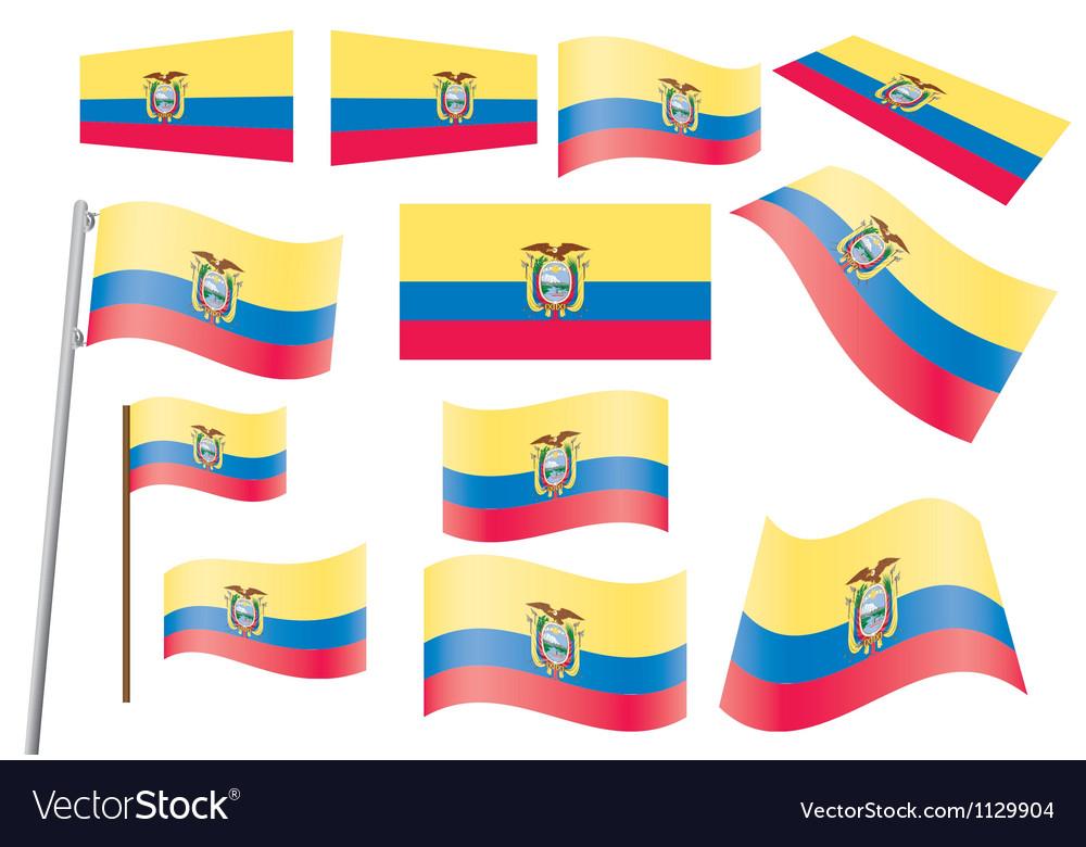 Ecuador flag vector | Price: 1 Credit (USD $1)