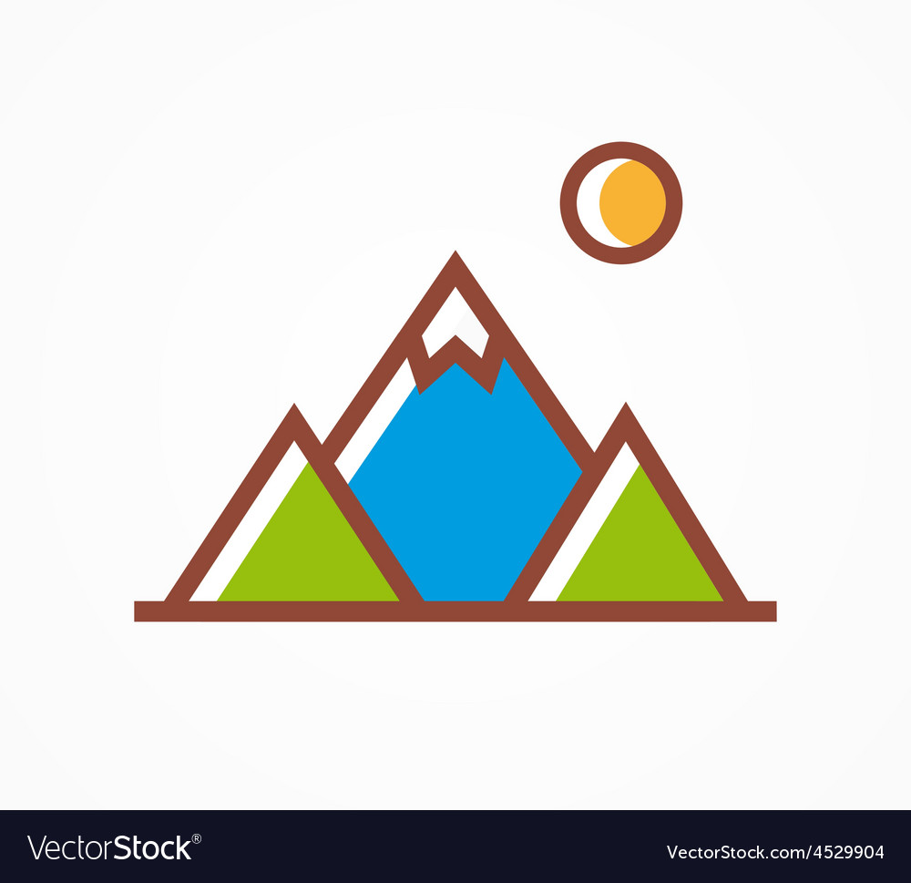 Mountains icon symbol vector | Price: 1 Credit (USD $1)
