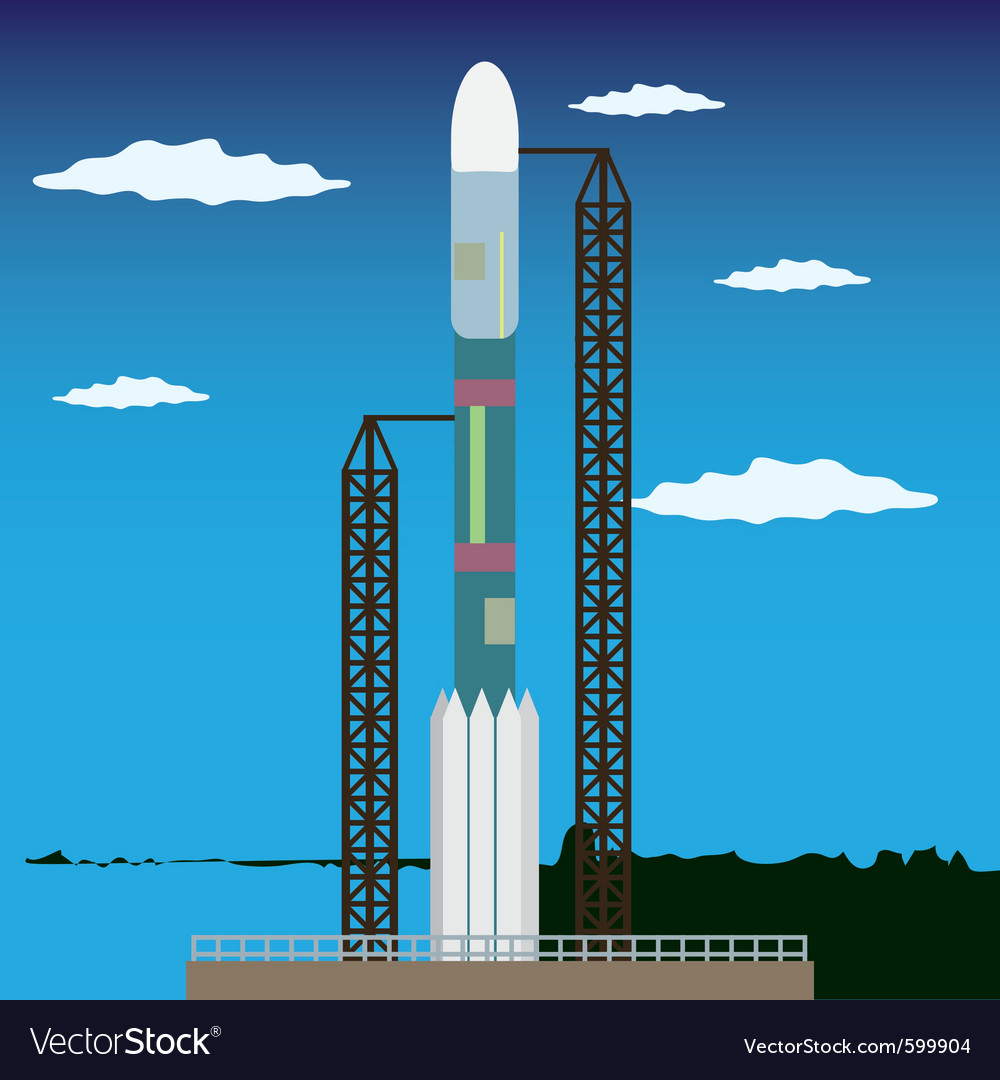 Rocket launch platform vector | Price: 1 Credit (USD $1)
