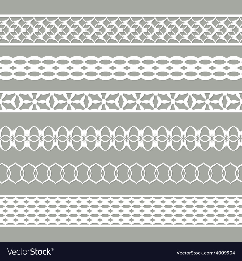 Set of seamless laces vector | Price: 1 Credit (USD $1)