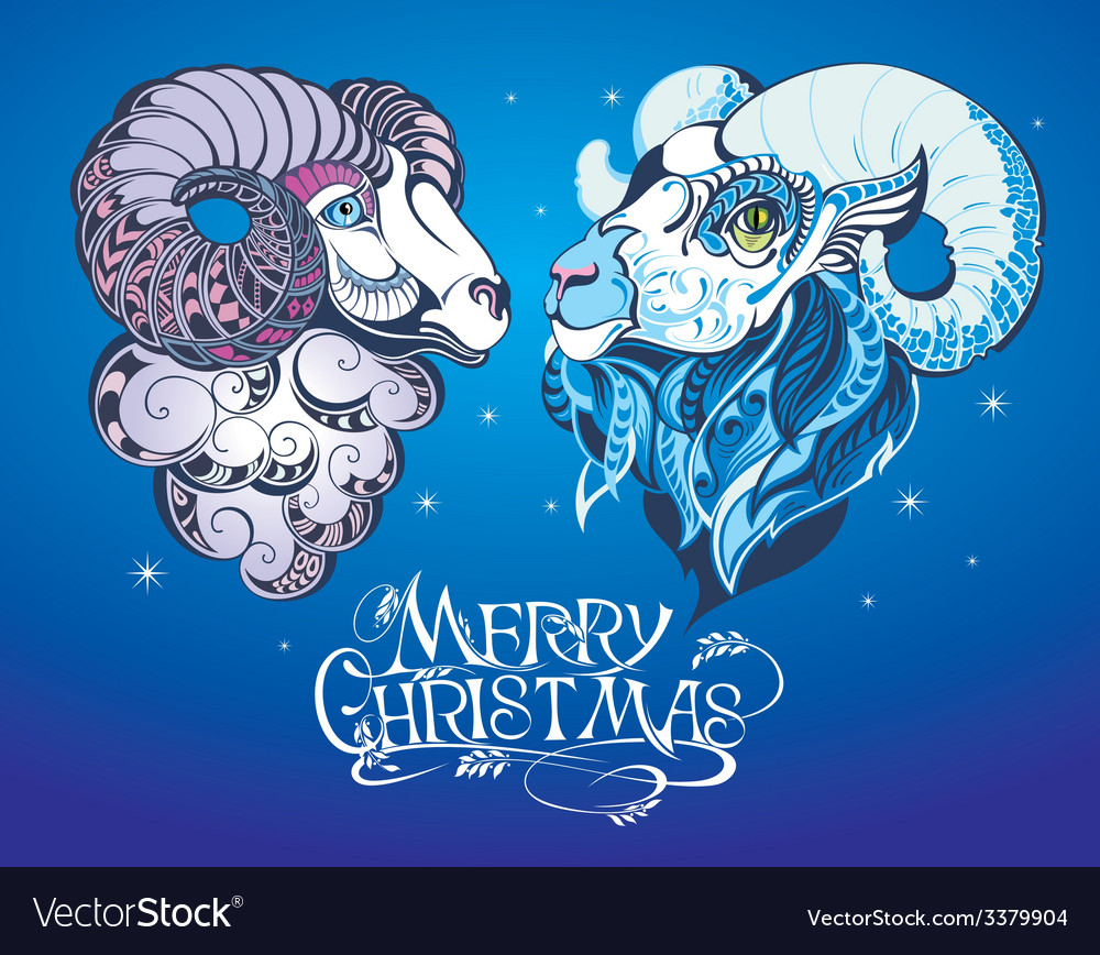 Sheep and goat vector | Price: 3 Credit (USD $3)
