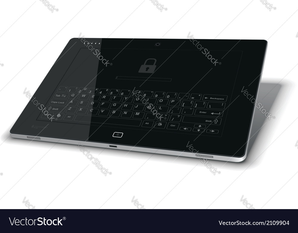 Tablet leaning back vector | Price: 1 Credit (USD $1)