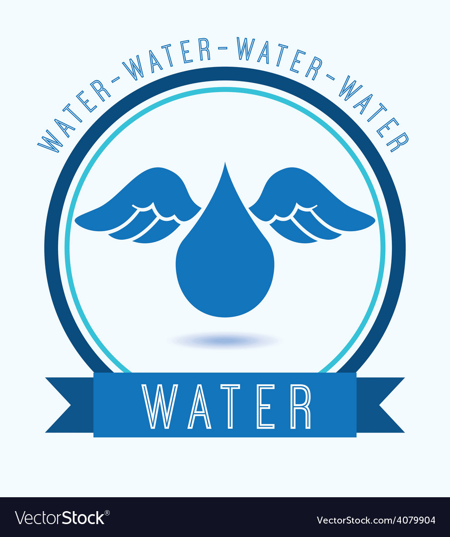 Water icon vector | Price: 1 Credit (USD $1)