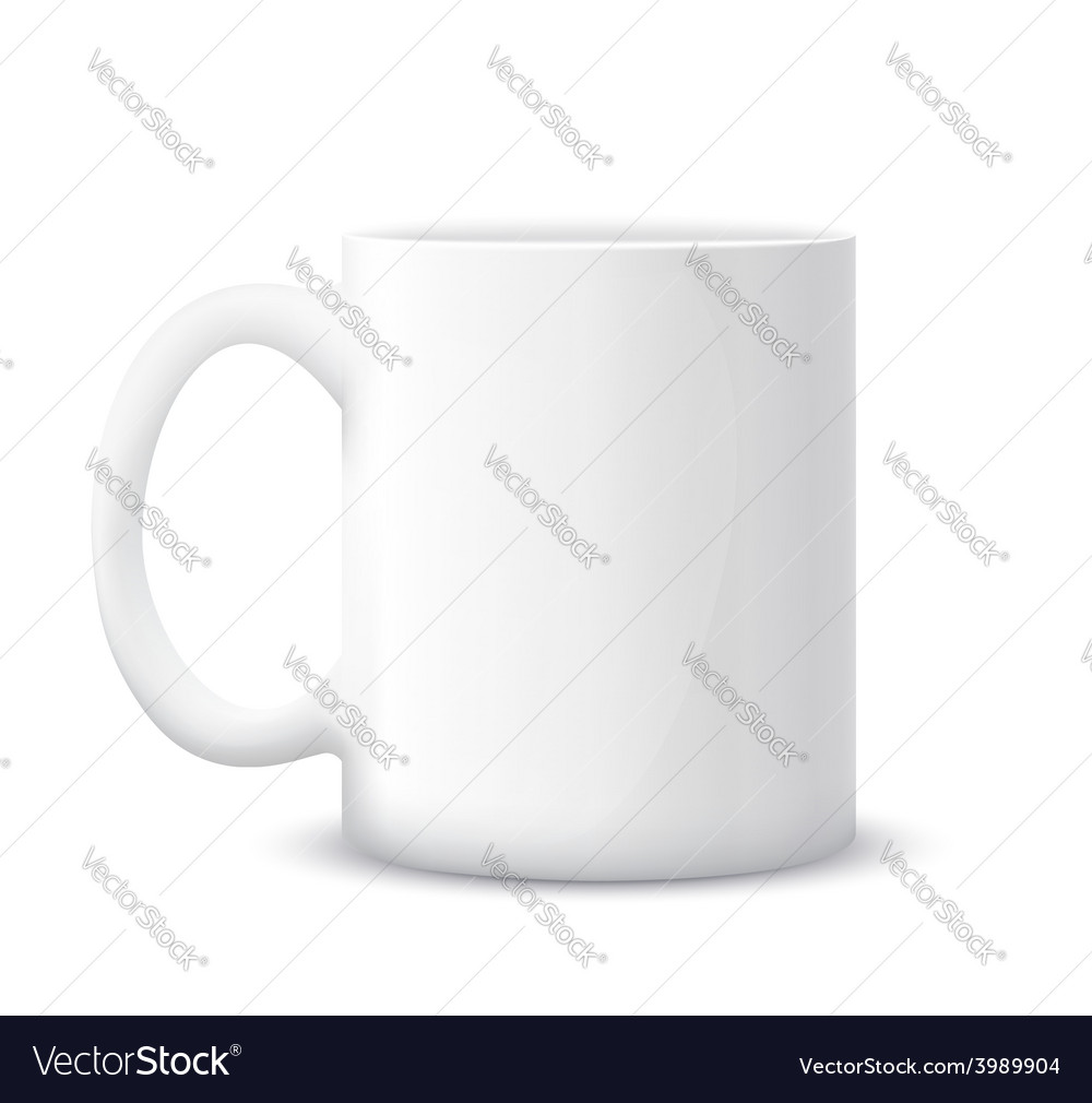 White cup vector | Price: 1 Credit (USD $1)