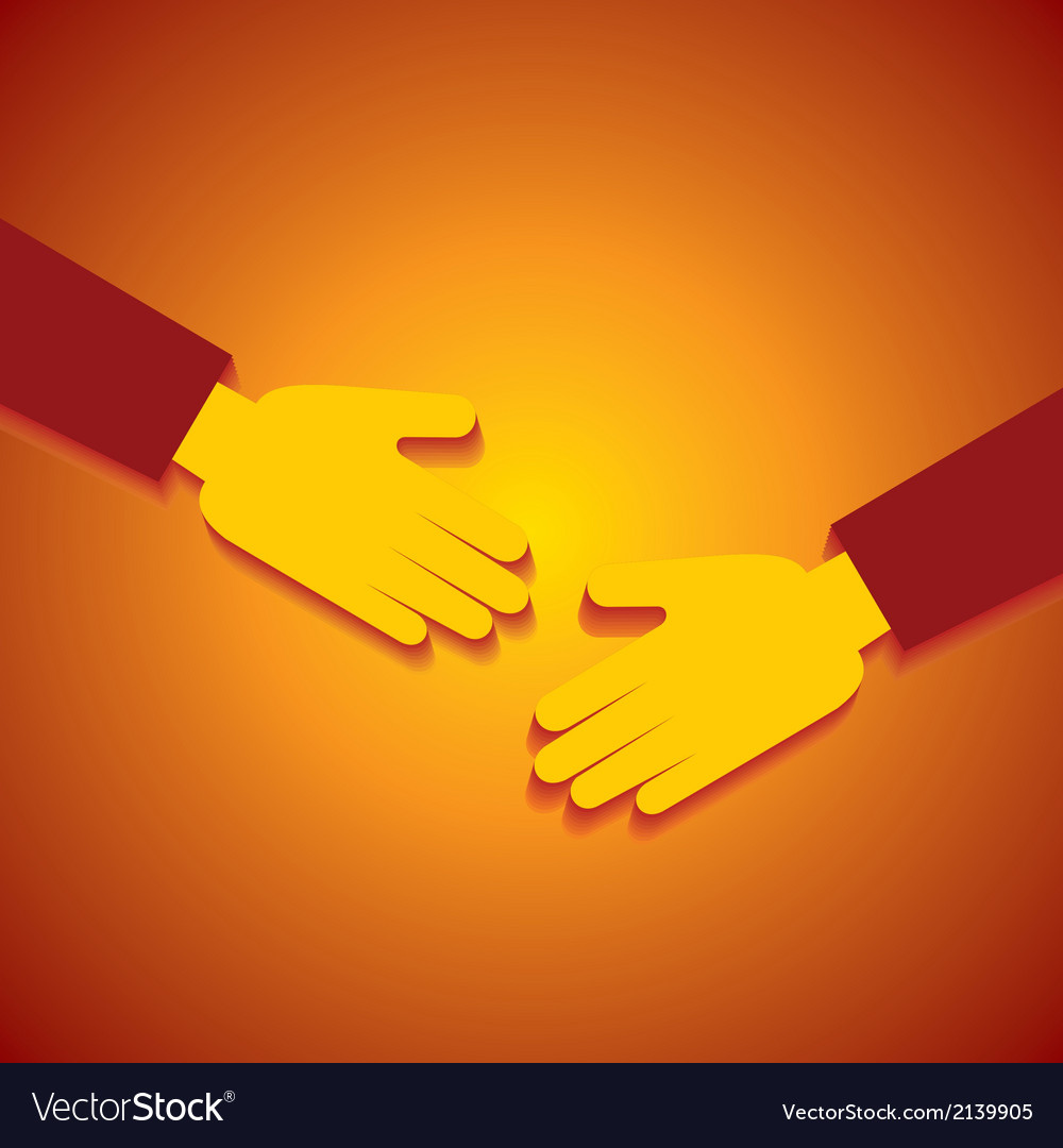 Businessman hand shaking vector | Price: 1 Credit (USD $1)