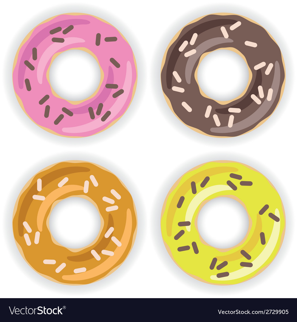 Donuts collection vector | Price: 1 Credit (USD $1)