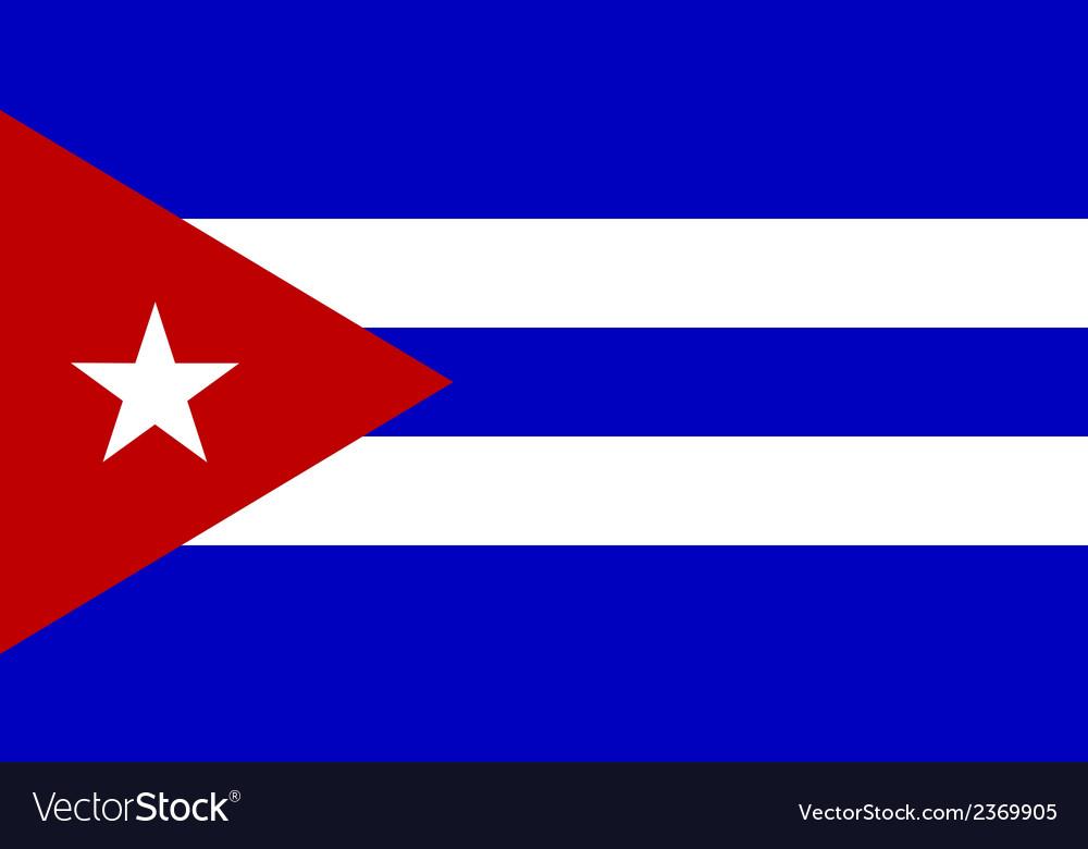 Flag of cuba vector | Price: 1 Credit (USD $1)