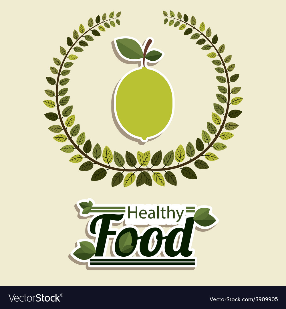 Food design over beige background vector | Price: 1 Credit (USD $1)