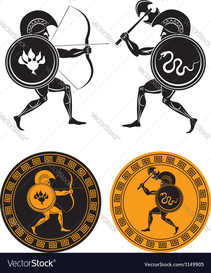 Gladiators vector | Price: 1 Credit (USD $1)