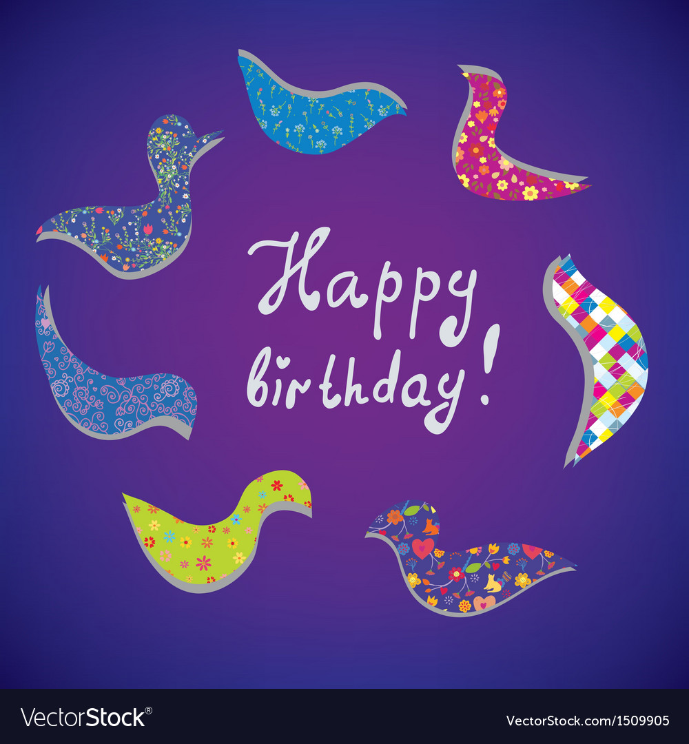 Greeting card for birthday vector | Price: 1 Credit (USD $1)