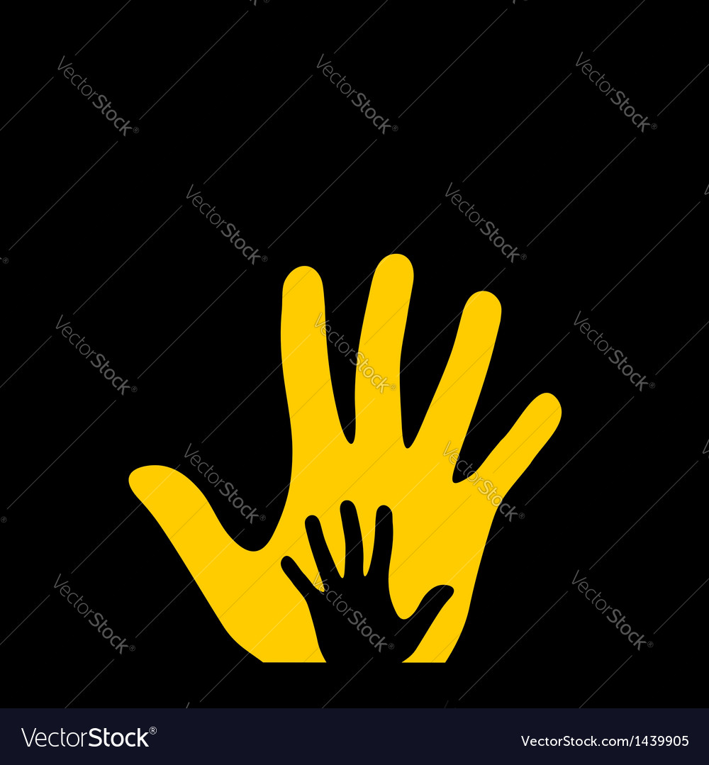 Hand in hand vector | Price: 1 Credit (USD $1)