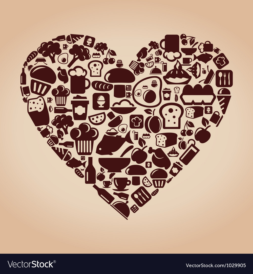Heart food vector | Price: 1 Credit (USD $1)