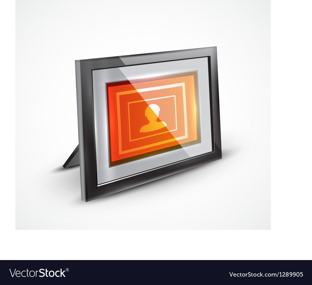 Photo frame 3d icon vector | Price: 3 Credit (USD $3)