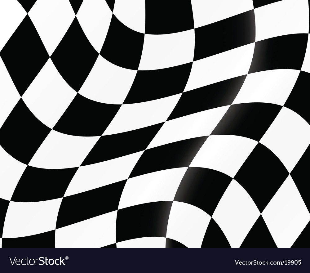 Racing flag vector | Price: 1 Credit (USD $1)