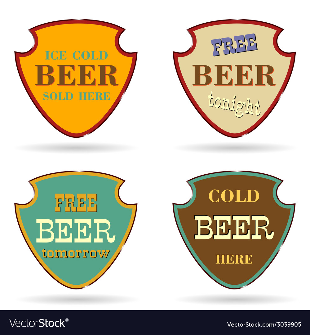 Shield with beer commercial vector | Price: 1 Credit (USD $1)