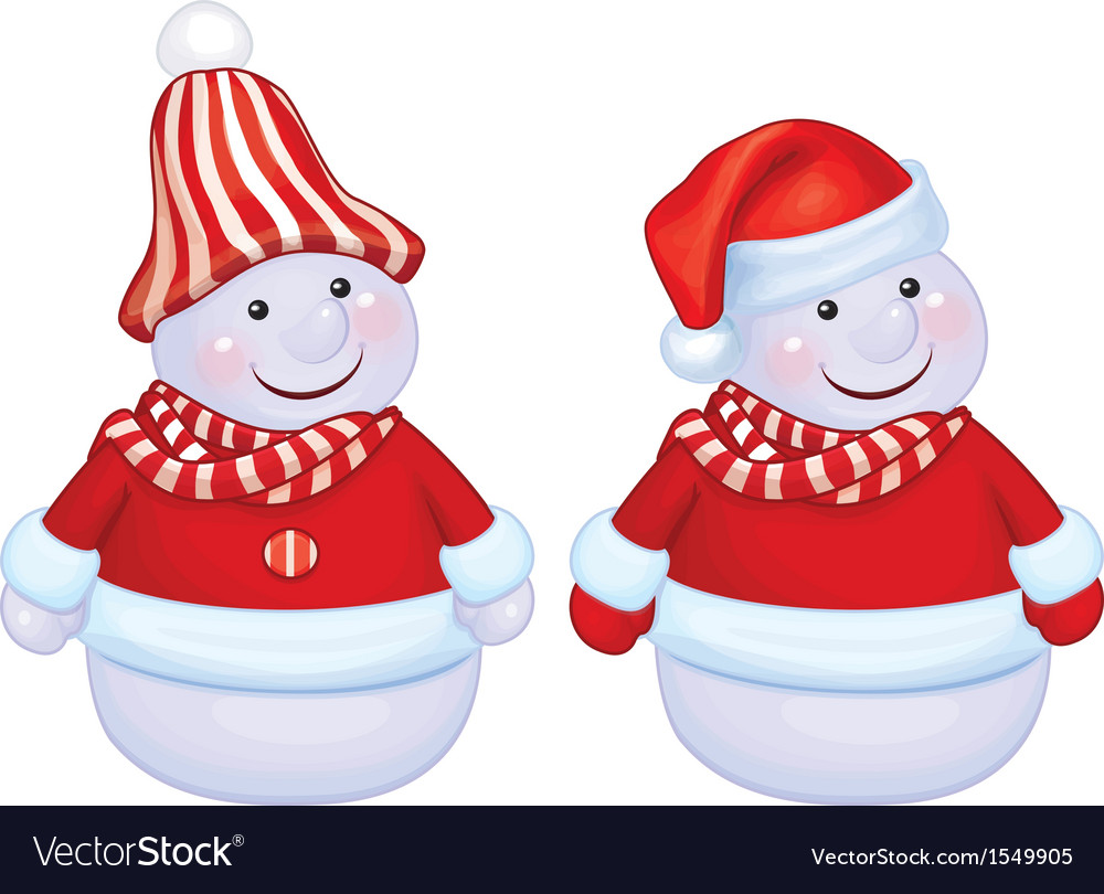 Snowmen vector | Price: 1 Credit (USD $1)