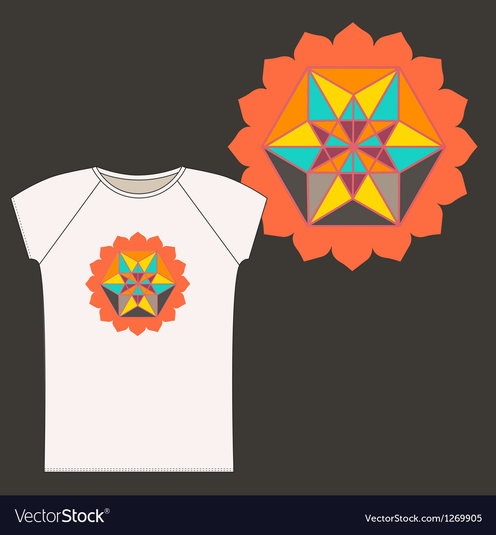 Star tetrahedron logo design for a t shirt vector | Price: 1 Credit (USD $1)