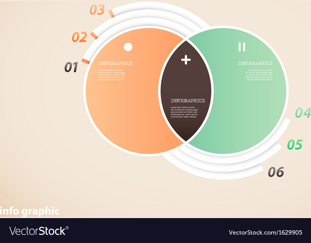 Two circle infographic with place for your text vector   Price: 1 Credit (USD $1)