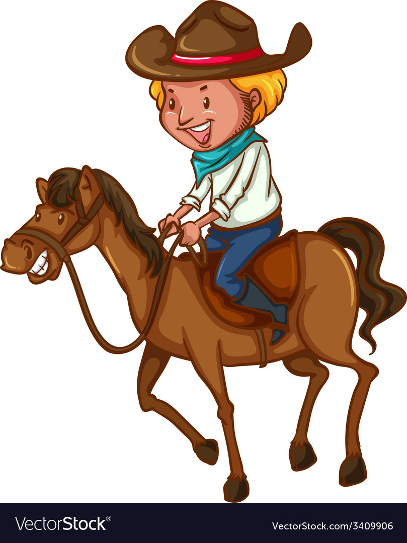 A young cowboy vector | Price: 3 Credit (USD $3)