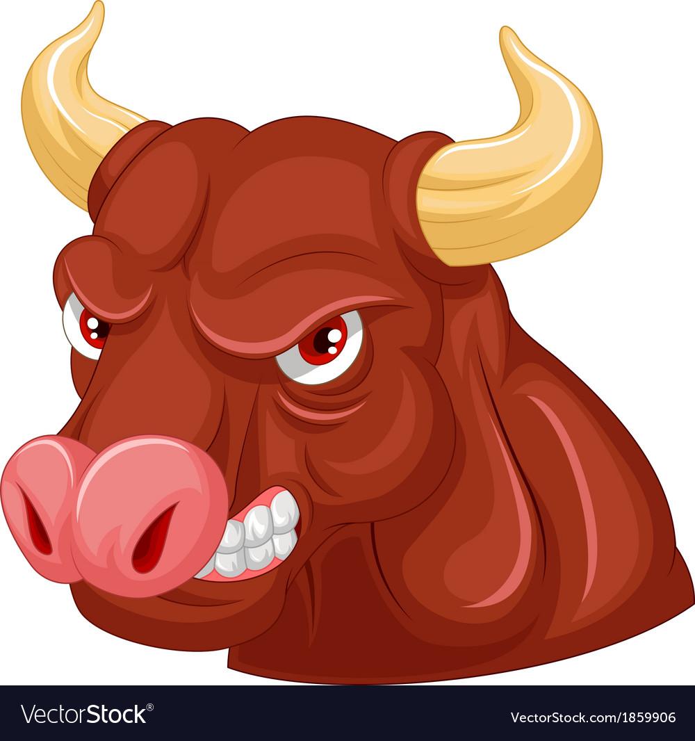 Angry bull mascot cartoon character vector | Price: 3 Credit (USD $3)