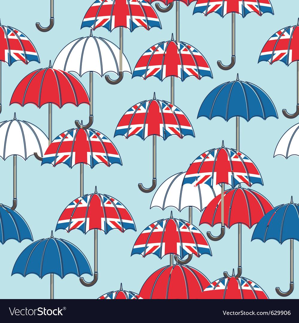 British umbrella pattern vector | Price: 1 Credit (USD $1)