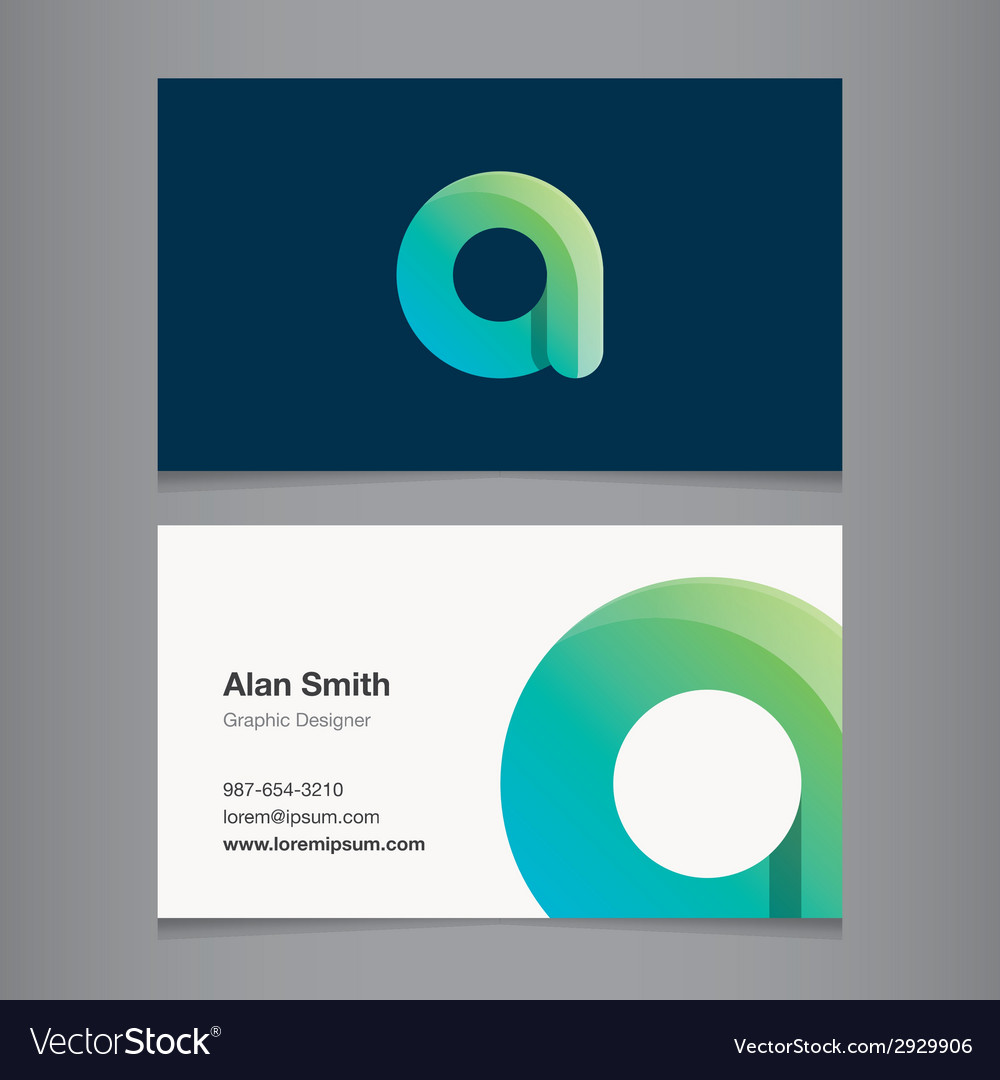 Business card letter a vector | Price: 1 Credit (USD $1)