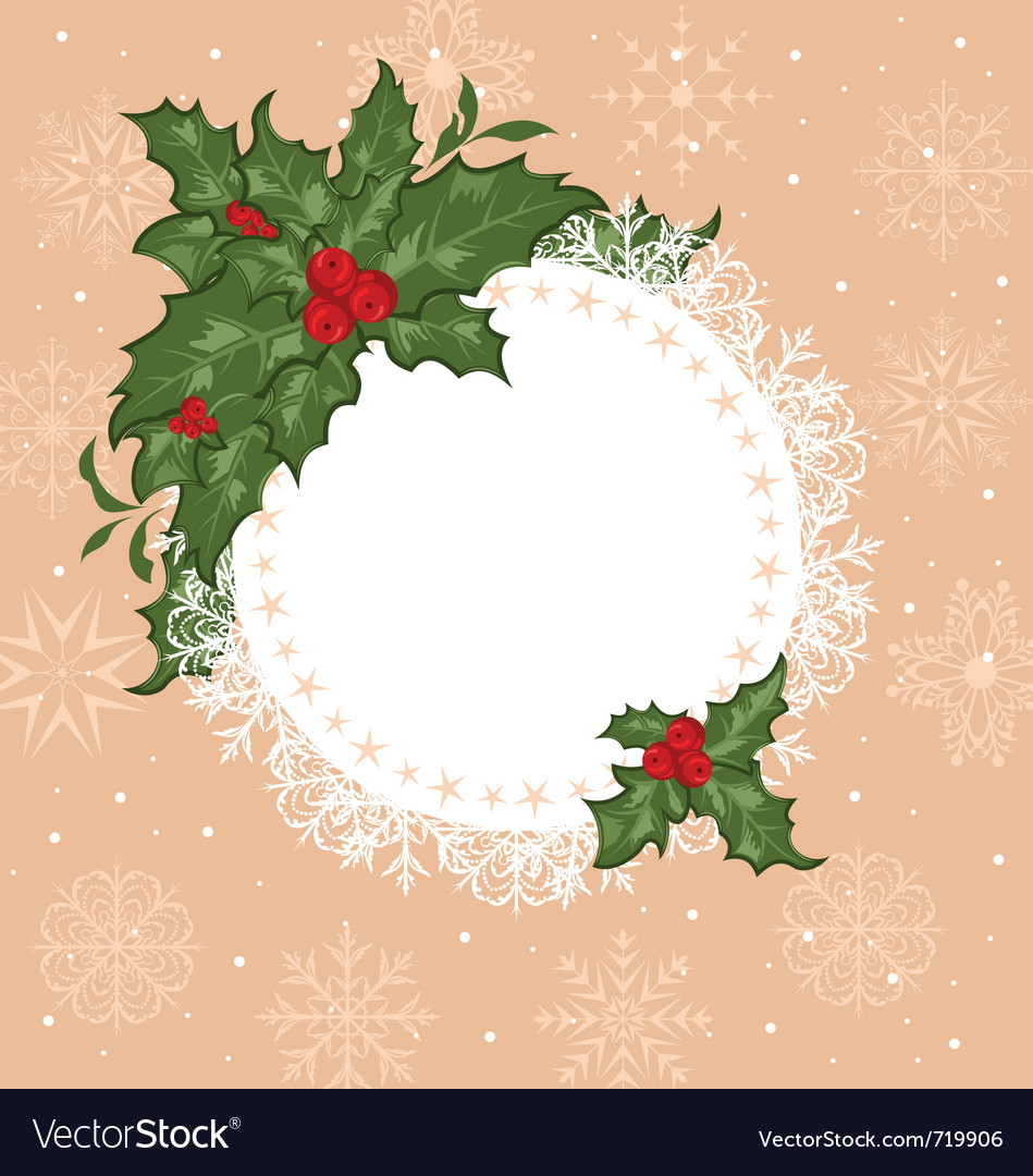 Christmas celebration card with branch - vector | Price: 1 Credit (USD $1)