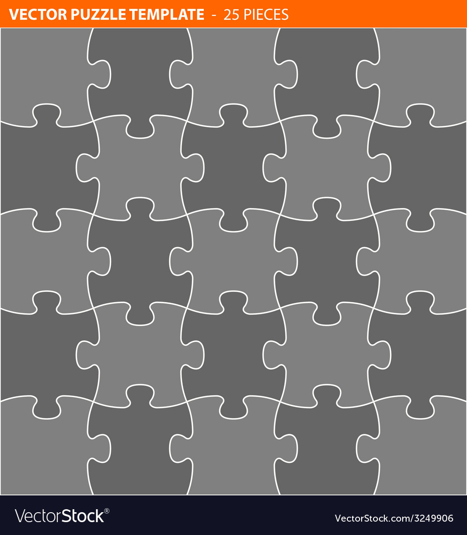 Complete puzzle jigsaw template vector | Price: 1 Credit (USD $1)