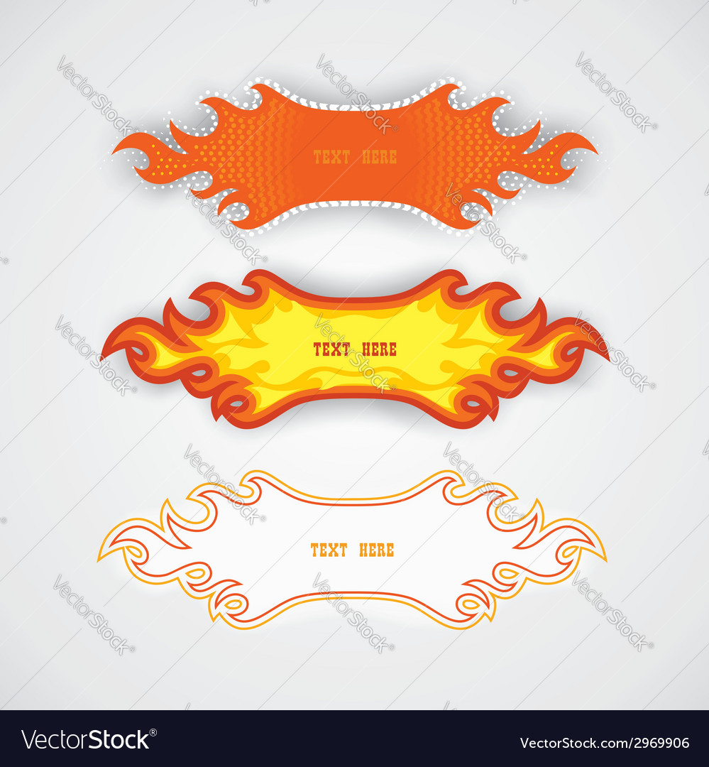 Fiery speech bubbles vector | Price: 1 Credit (USD $1)