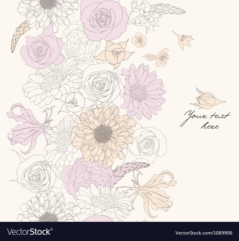 Flower pattern seamless vector | Price: 1 Credit (USD $1)