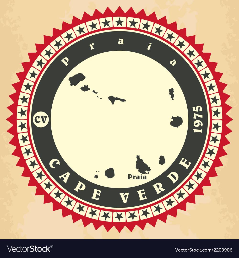Vintage label-sticker cards of cape verde vector | Price: 1 Credit (USD $1)