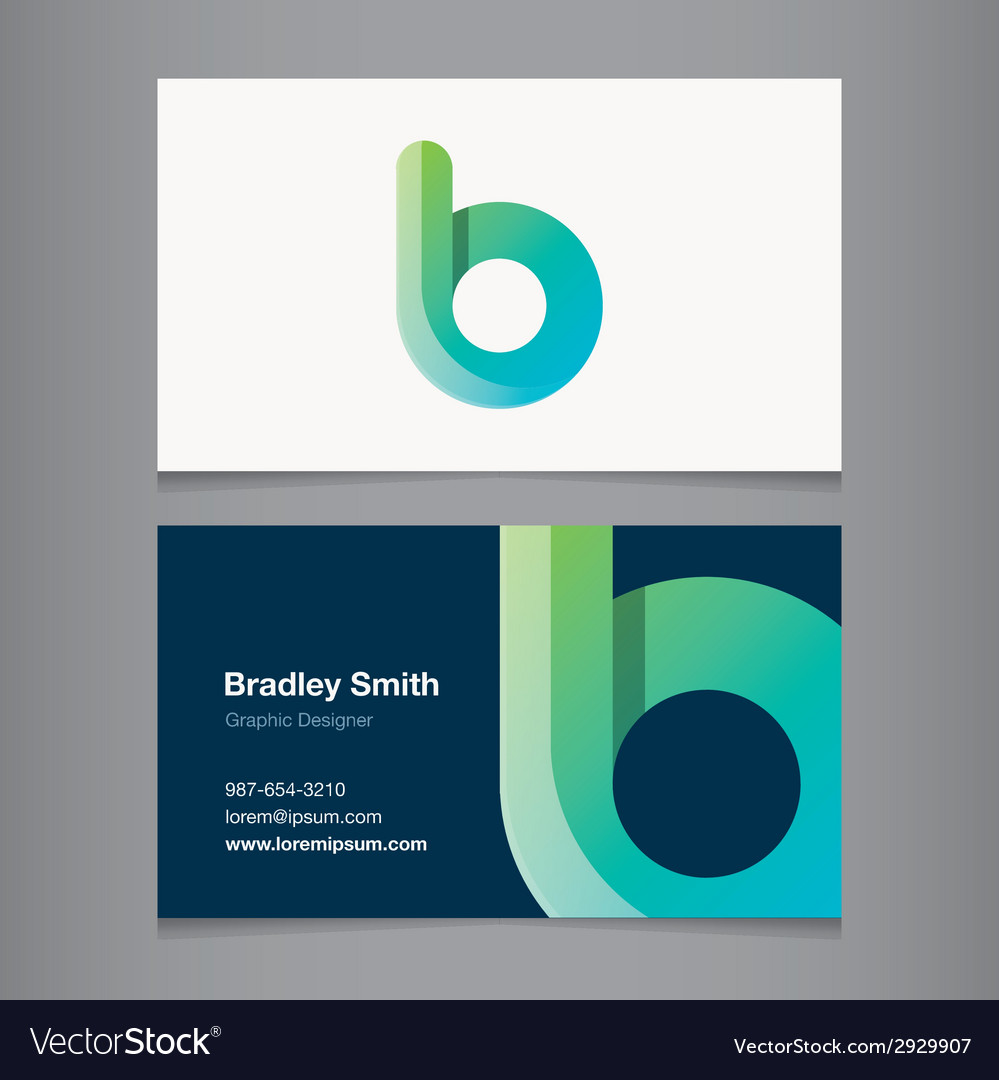 Business card letter b vector | Price: 1 Credit (USD $1)