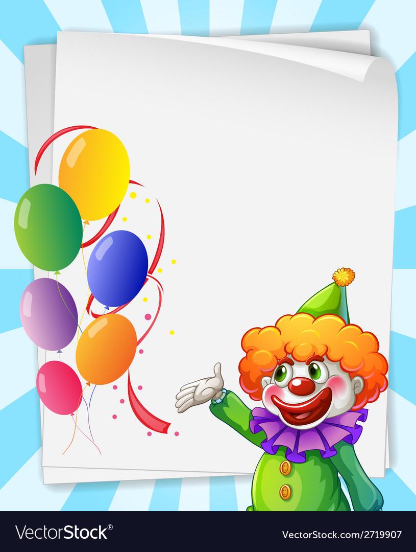 Clown invitation vector | Price: 1 Credit (USD $1)