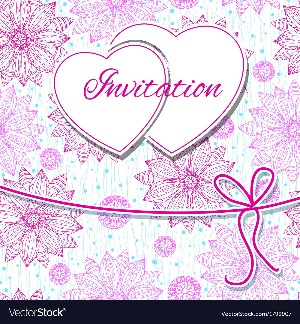 Happy valentines day and weeding card vector | Price: 1 Credit (USD $1)