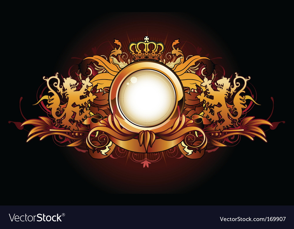 Heraldic golden frame vector | Price: 3 Credit (USD $3)