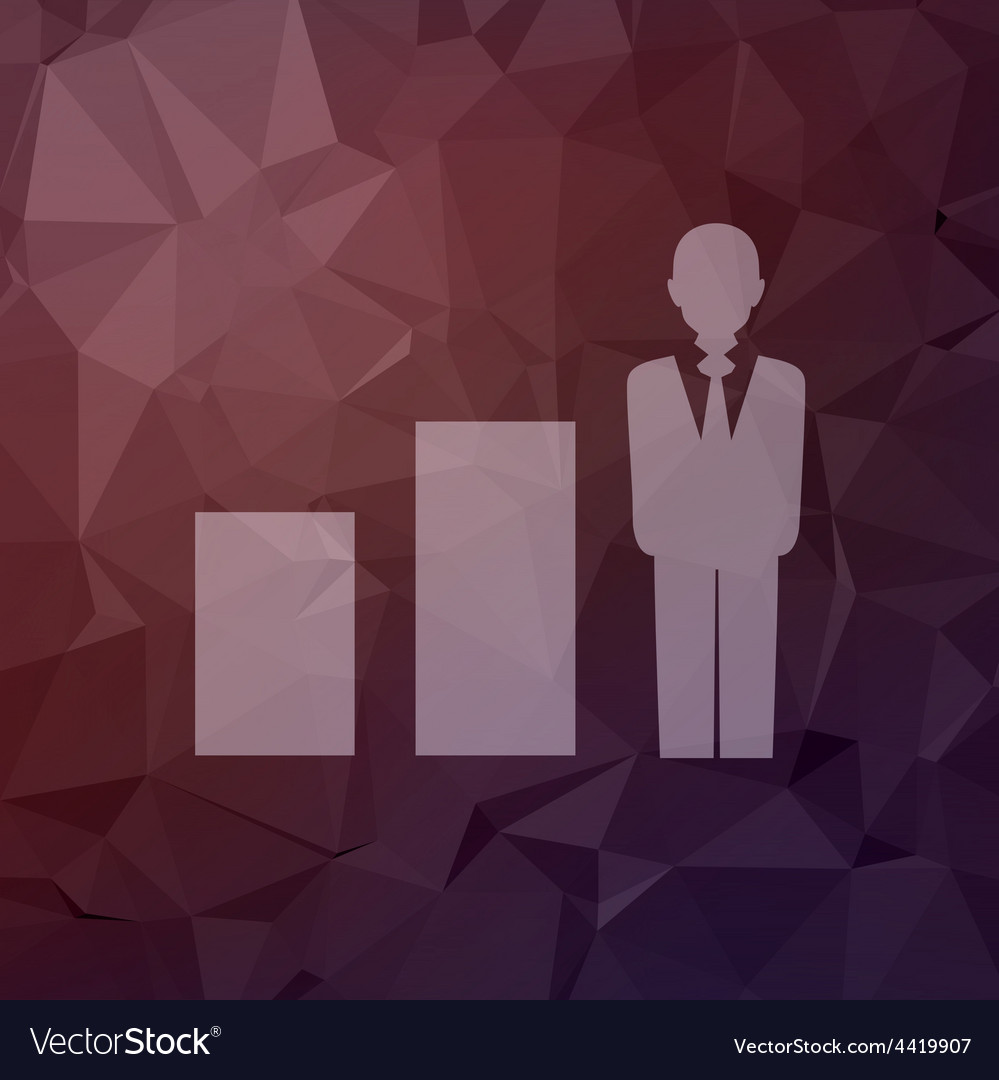 Man with growing diagram in flat style icon vector | Price: 1 Credit (USD $1)