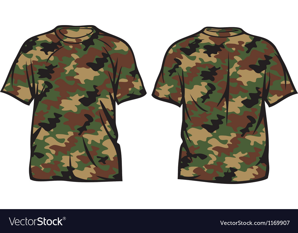 Military t-shirt vector | Price: 1 Credit (USD $1)