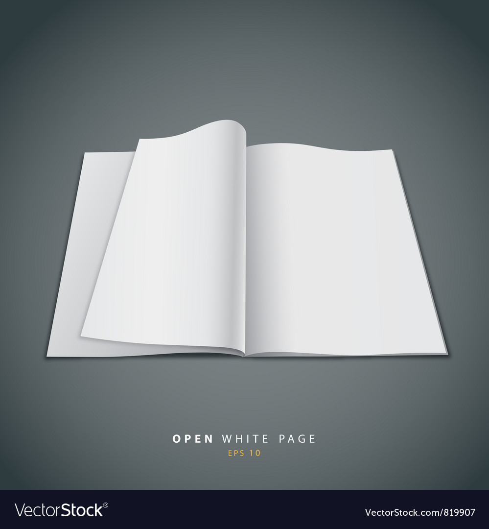 Open white page vector | Price: 1 Credit (USD $1)