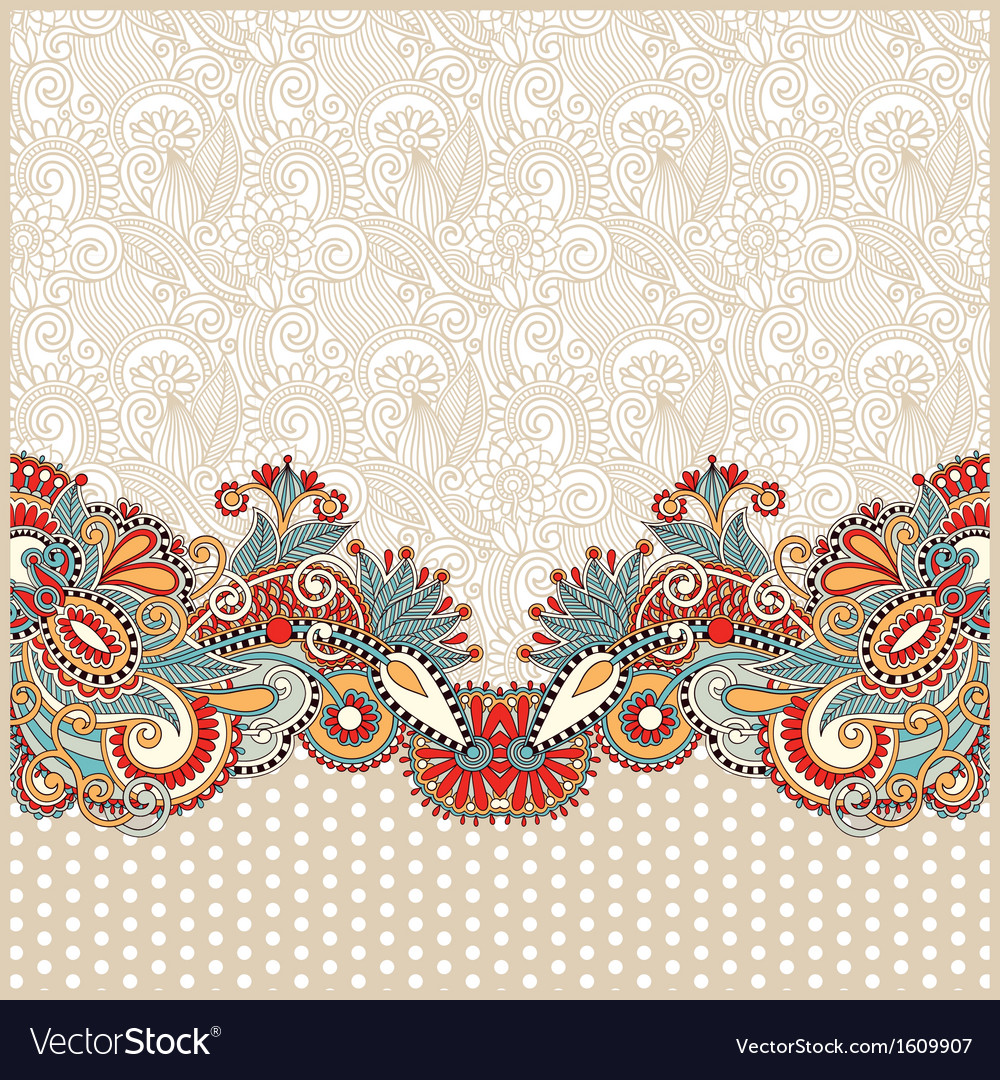 Ornate card announcement vector | Price: 1 Credit (USD $1)