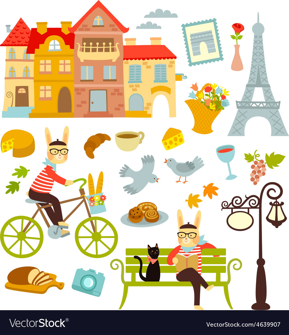 Paris collection vector | Price: 1 Credit (USD $1)
