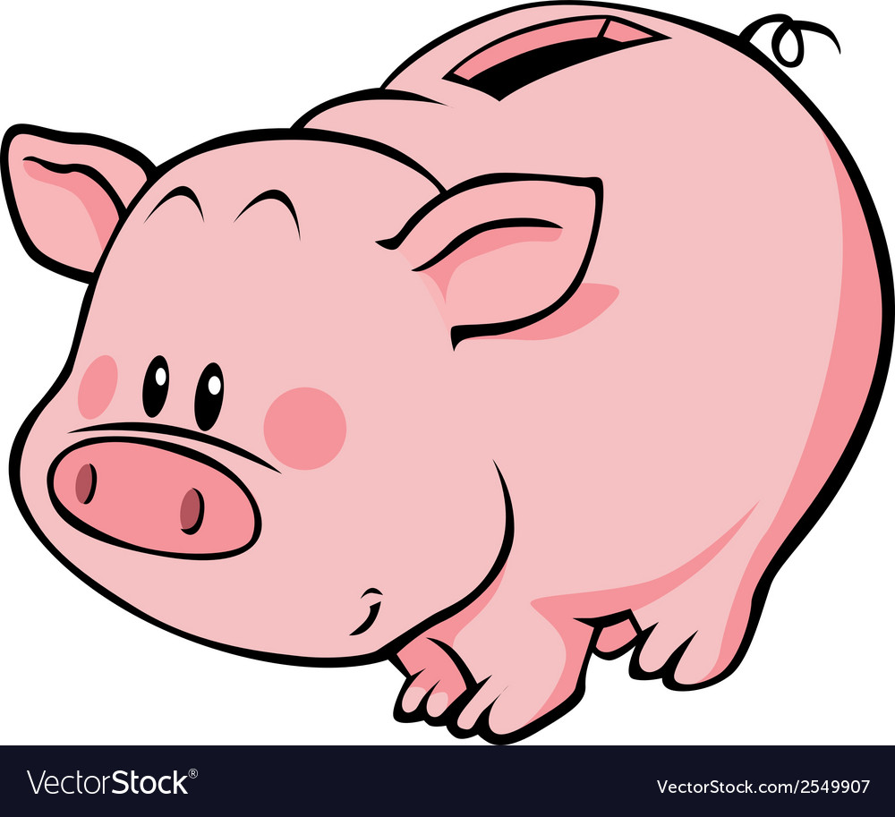 Pig moneybox vector | Price: 1 Credit (USD $1)