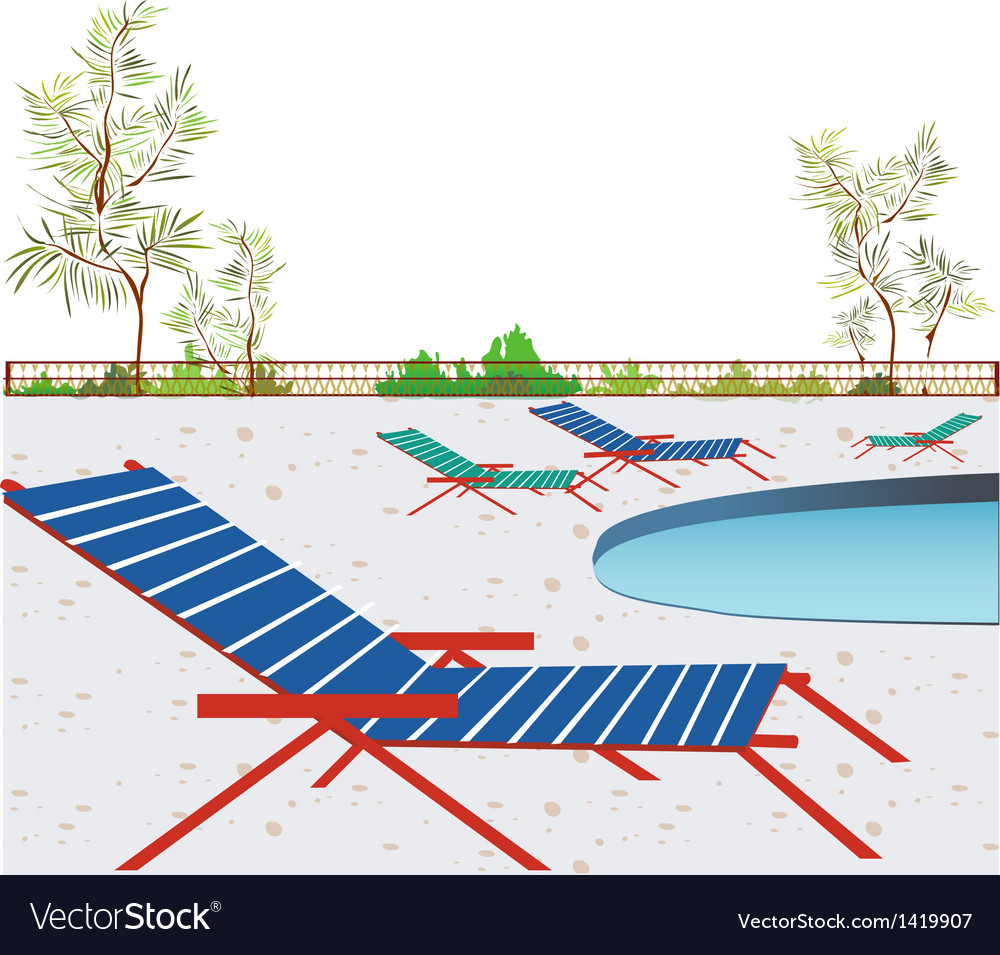 Poolside background vector | Price: 1 Credit (USD $1)