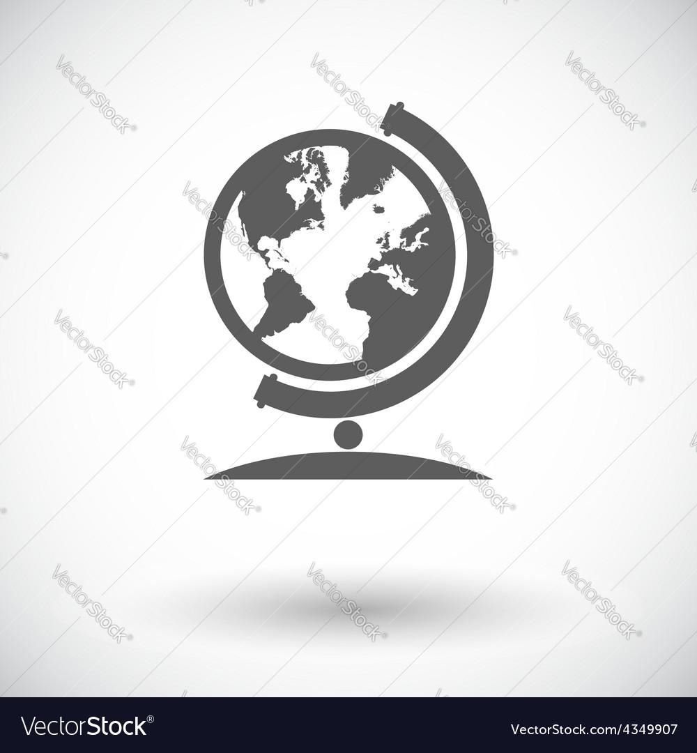 School globe vector | Price: 1 Credit (USD $1)