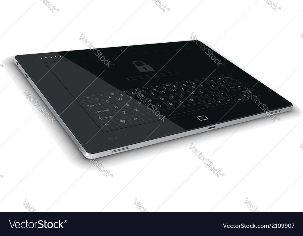 Tablet left side view horizontal surface vector   Price: 1 Credit (USD $1)