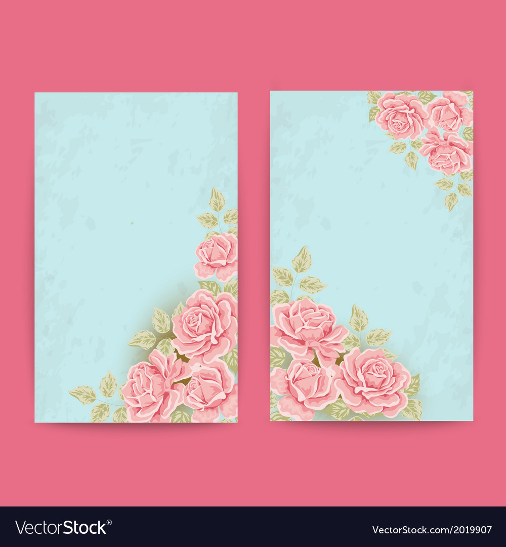 Vintage labels with roses vector | Price: 1 Credit (USD $1)